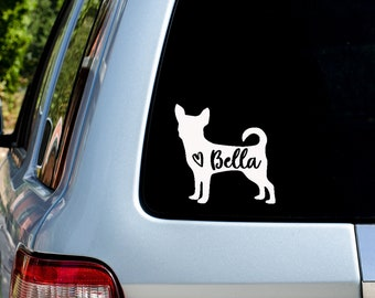 I Heart My Chihuahua Vinyl Decal  Car Truck Window Wall Tablet Laptop