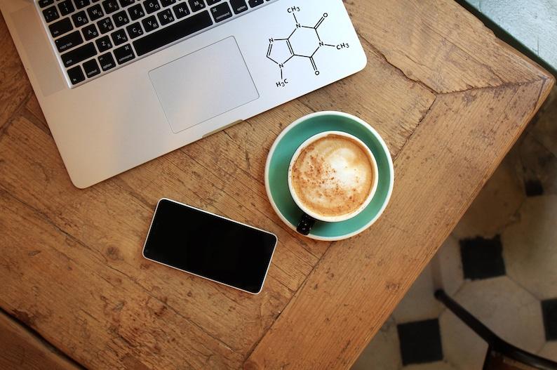 Decal Caffeine moleculeLaptop DecalLaptop StickerCar image 1