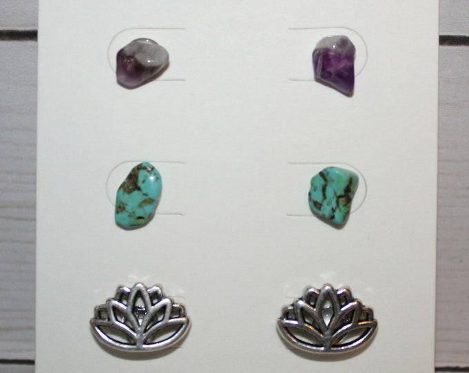 Set of Crystal Earrings
