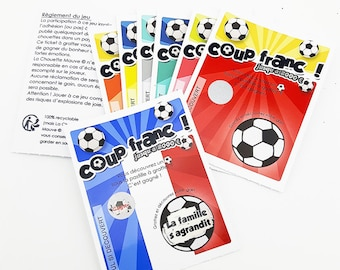 Ticket scratch football with a surprise message