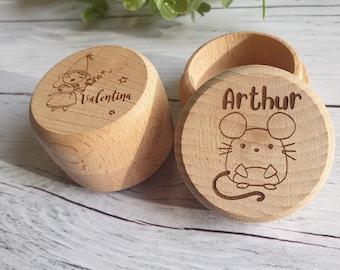 Custom toothbox engraved in wood