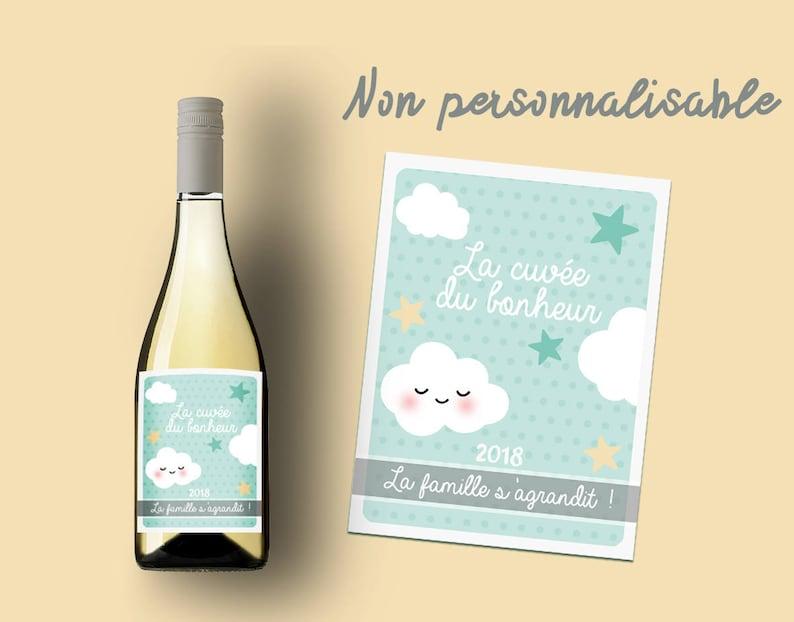 Etiquette bouteille vin ou champagne pour annoncer sa grossesse | A découvrir sue le blog : keepcoolnewmom.com