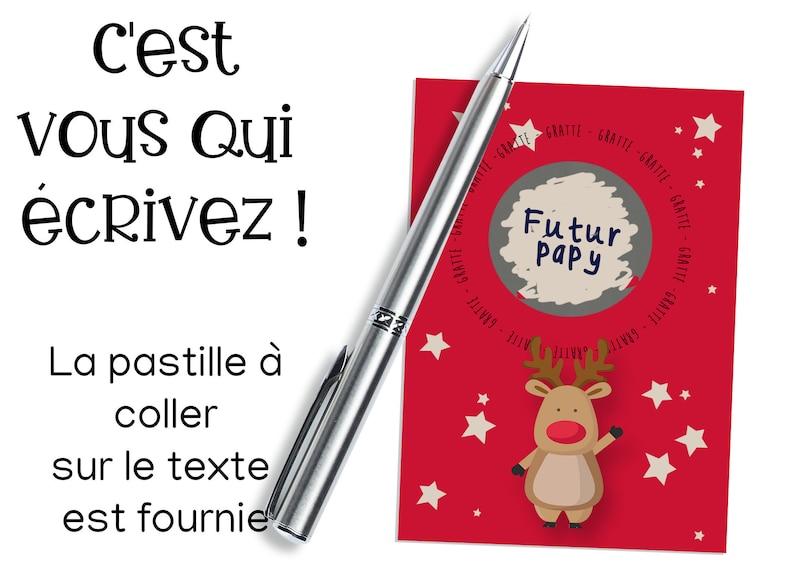Mini carte à gratter inscriptible de Noël | Créatrice : Lachouettemauve | A découvrir sur le blog : keepcoolnewmom.com
