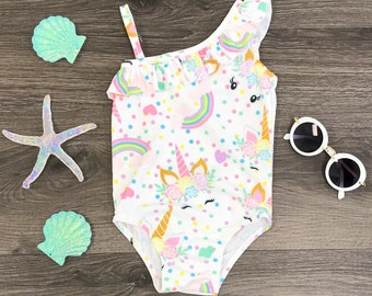 Unicorn one piece swim suit. FREE SHIPPING USA