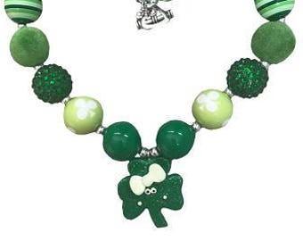 St. Patrick's necklace. Patrick's day! Free shipping USA