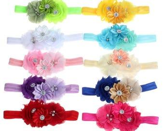 Flower Headbands 10 PC Set Free shipping USA