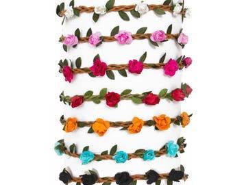 Braided floral headband Free shipping USA