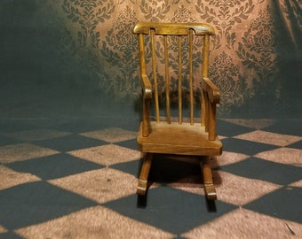 Terrific Vintage Shabby Chic Blue Doll Rocking Chair With Painted Etsy Ibusinesslaw Wood Chair Design Ideas Ibusinesslaworg