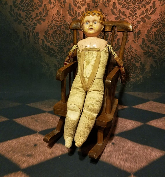 Prime Vintage Doll Rocking Chair Haunted Doll Rocking Chair Ibusinesslaw Wood Chair Design Ideas Ibusinesslaworg