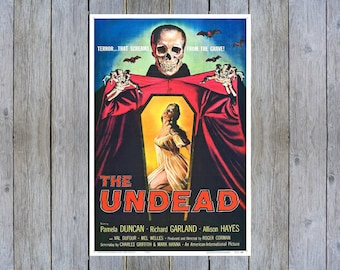1955 REVENGE OF THE CREATURE VINTAGE HORROR MOVIE POSTER PRINT STYLE D 36x18