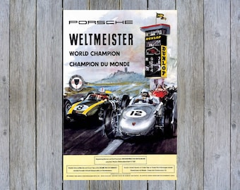 1938 Car Race Grand Prix Germany Hans Stuck Vintage Poster Repro FREE S//H in USA