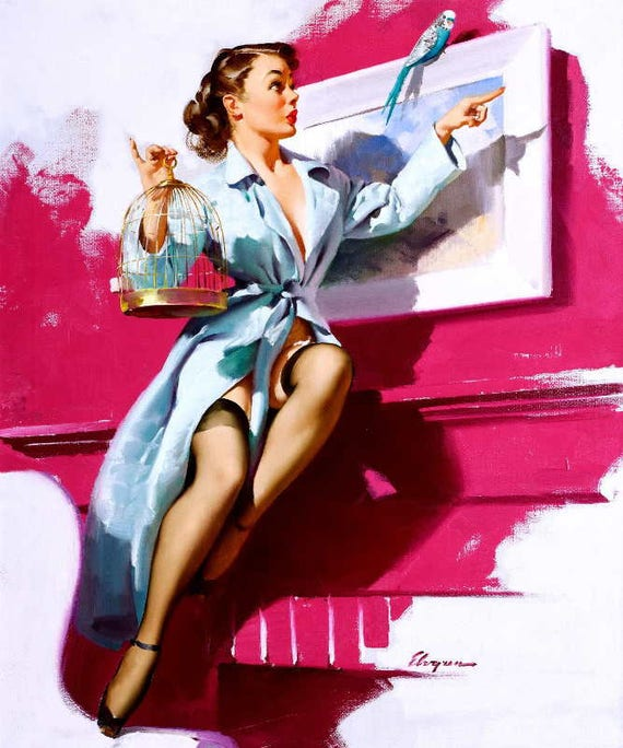 Peter Driben Pin Up Girls Giclee Canvas Print Paintings Poster Reproduction