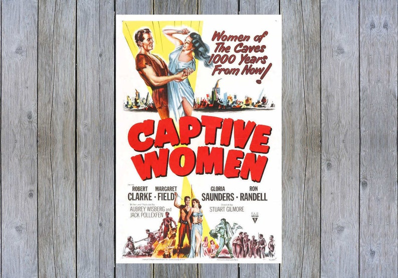 1952 Captive Women vintage movie poster print