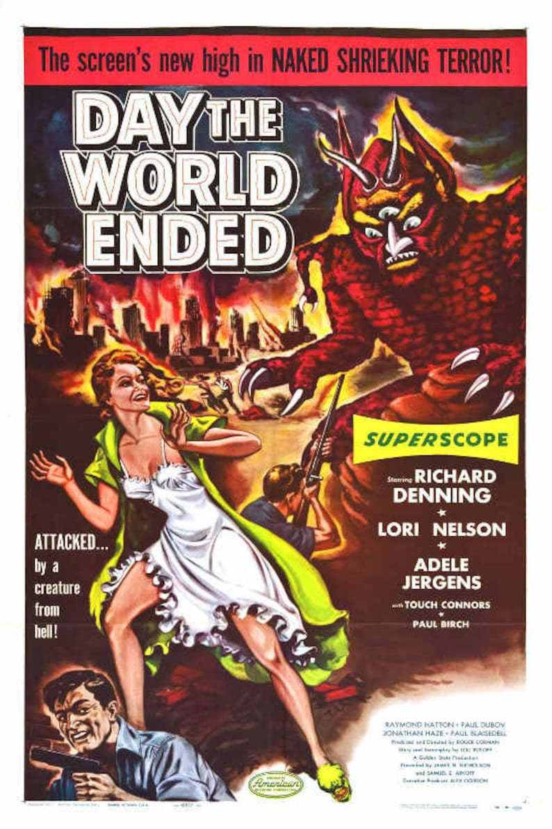 1960 BEYOND THE TIME BARRIER VINTAGE SCI FI MOVIE POSTER PRINT STYLE B 24x16