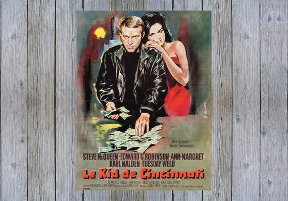 The Cincinnati Kid Steve McQueen cult movie poster print