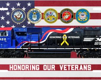 0f5527853c5 Norfolk Southern (NS) Veteran s Locomotive License Plate