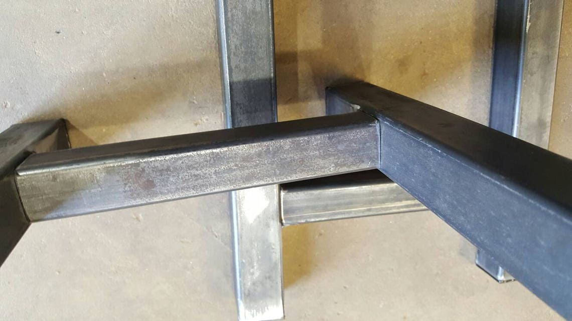 "HAIRPIN INDUSTRIAL table   or bench  steel legs 30"" tall  X. 14"" wide. Set of 2 Lower 48states USA Free Shipping. We do custom orders."
