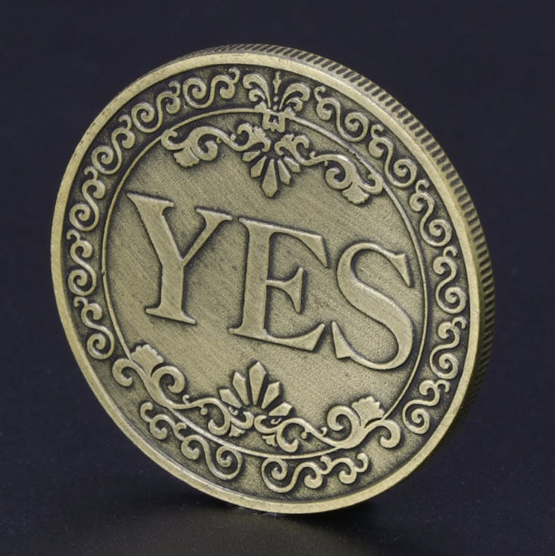Challenge Coin - A Special Coin To Dare Your Best Friends With This Yes/No  Decision Maker Flip Coin / Coin Ideas / Best Friend Gift