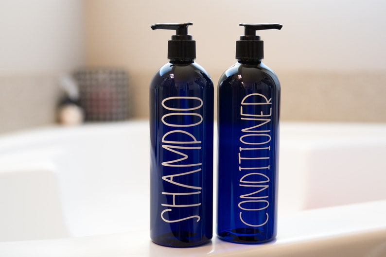 Astounding Blue Bathroom Accessories Set Modern Bathroom Storage Containers Body Wash And Lotion Bottles Shampoo Pump Bottles Labeled Bottles Home Interior And Landscaping Ologienasavecom