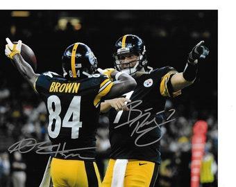 1954f726685 Big BEN ROETHLISBERGER Quarterback Authentic Autographed 8x10 Picture