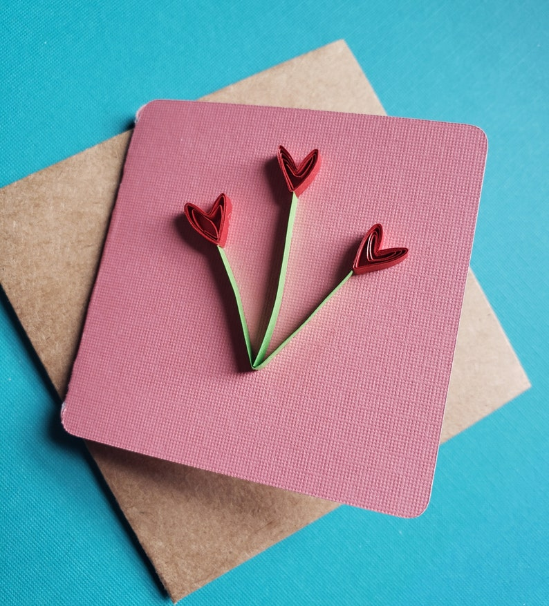 Pink floral note cards thank you blank cards with envelope gift supplies valentine/'s day