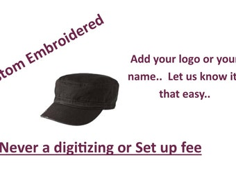 81878930c9d District- Distressed Military Hat with Custom Embroidery