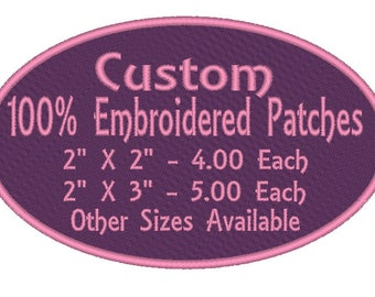 Embroidered Custom Patches Sew On, Iron on, VELCRO® FREE SHIPPING on orders over 35.00
