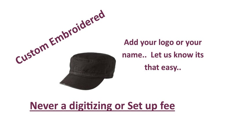053594a25e8c7 District Distressed Military Hat with Custom Embroidery