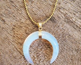 Opalite Crescent Necklace