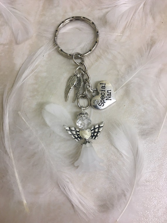 Nan Guardian Angel Silver Coloured Angel Pin With Gem Stone Sentimental Gift Ide