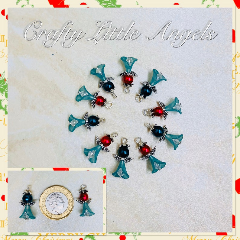 angels small angel charms religious angel charms Handmade Christmas angel charms xmas charms small Christmas charms festive pendants