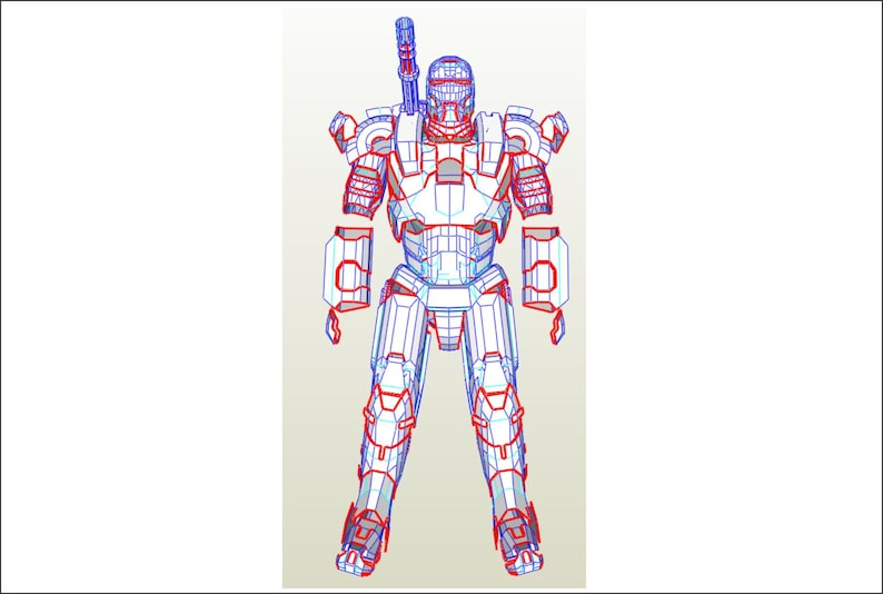 Iron Man War Machine Armor Suit Patterns For Eva Foam Build Etsy