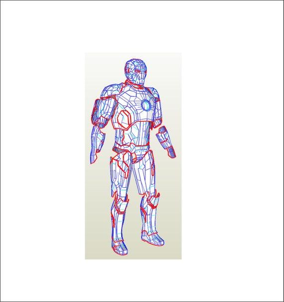 Eva Foam Iron Man MK 42 Armor Suit PDF PDO Templates