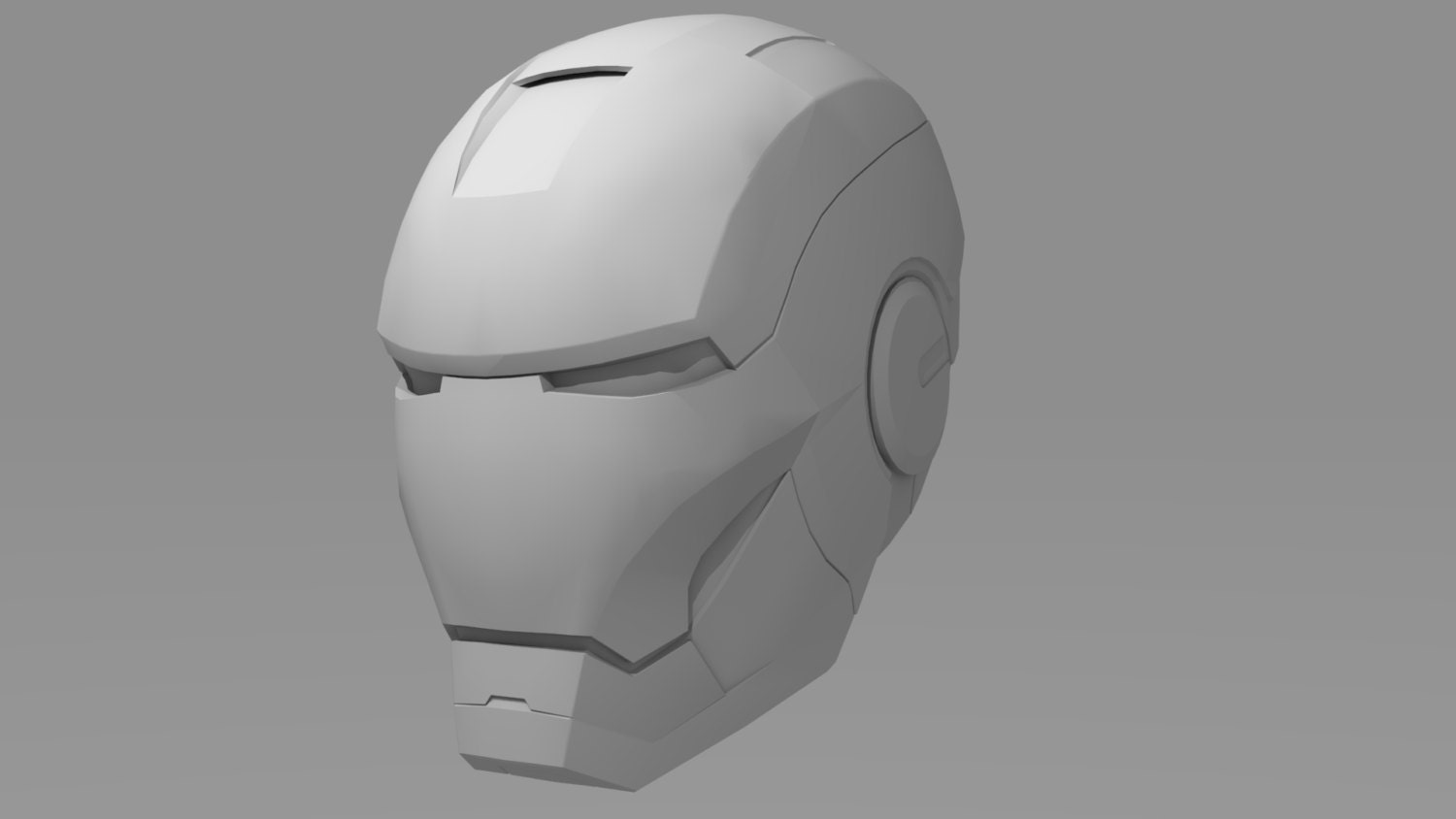 Iron Man Cosplay Helmet Pattern For Pepakura Etsy