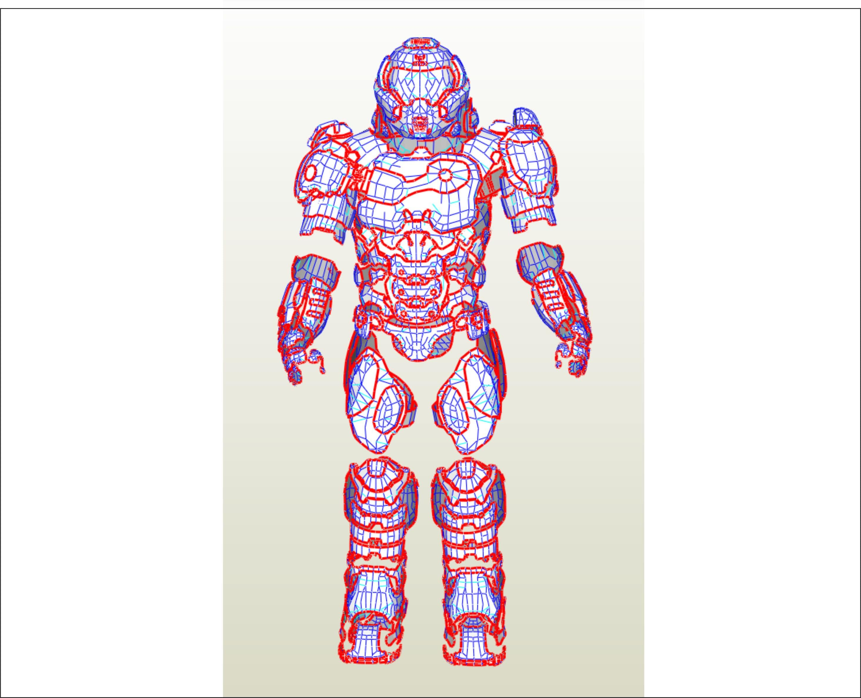 Eva Foam Doom Guy Body Armor Pepakura Templates To Build Your Etsy