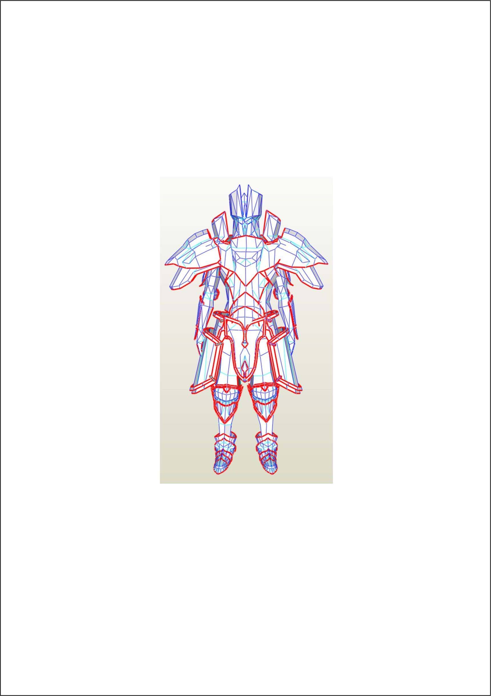 Fire Emblem Dark Knight Costume Eva Foam Templates Etsy