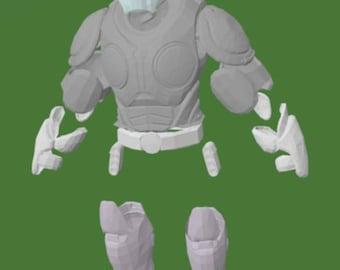 Gears of War Onyx armor wearable cosplay suit pepakura paper model kit DIY to build your own