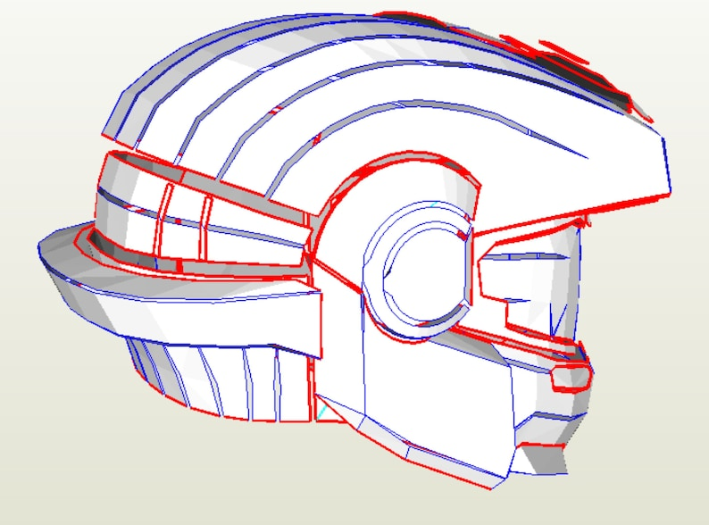 EVA Foam templates for Halo grenadier helmet