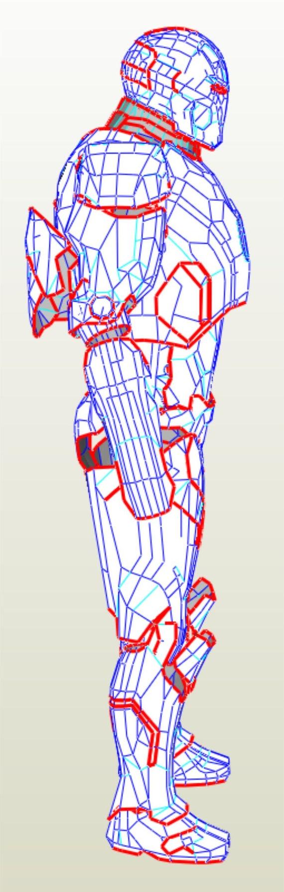 Eva Foam Iron Man Mk 42 Armor Suit Pdf Pdo Templates Etsy