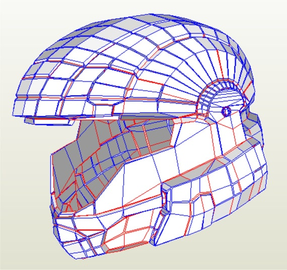 Eva Foam And Paper Halo 3 Odst Cosplay Helmet Replica Etsy