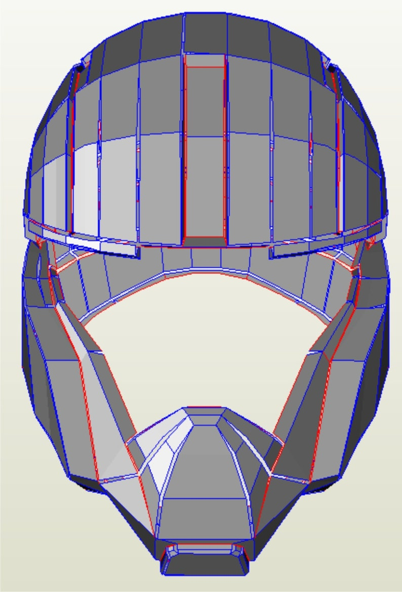 Halo UNSC naval helmet replica pattern for pepakura to build your own