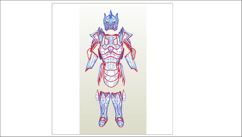 Skyrim Glass body armor digital templates for EVA Foam build