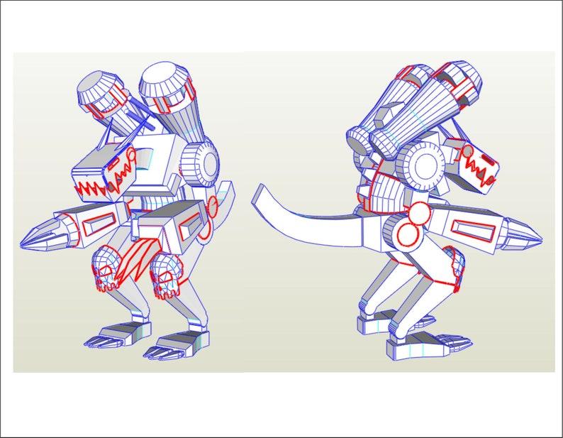 Dramon machine Digimon EVA Foam costume templates