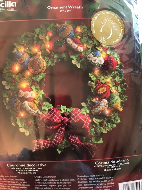 Bucilla Ornament Wreath 85453 Made To Order Very Etsy