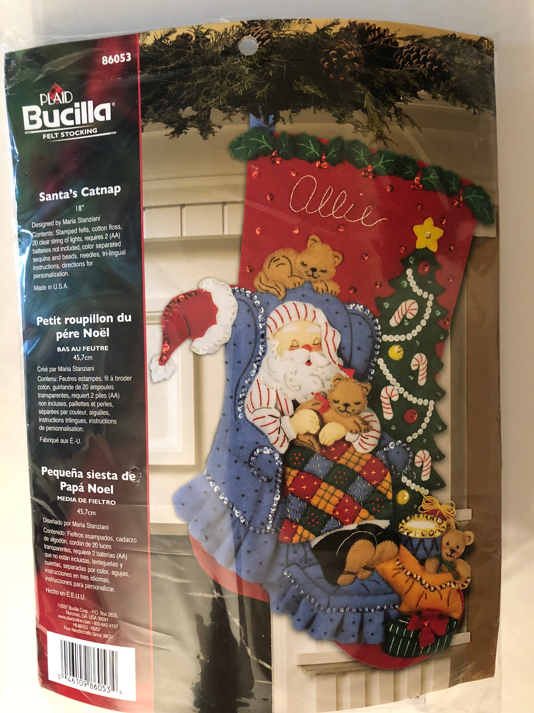 Bucilla Christmas Stocking Made To Order Personalized Etsy
