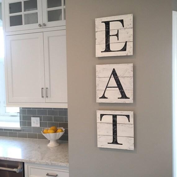 EAT Sign Wood Pallet Farmhouse Sign Kitchen Decor | Etsy