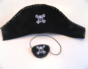Sew Your Own Pirate Hat and Eye Patch Kit Sewing Fun Kids Gift Boys Girls Learn to Sew FUN