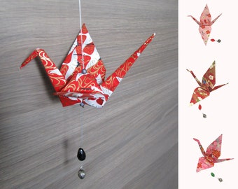 Suspension origami, Japanese origami, Japan decoration, Japanese suspension - Origami crane suspension