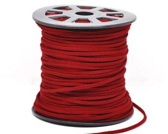 5 m cord - red dark 2.5 mm