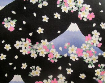 Fat quarter fabric Japanese cotton - Fujiyama flowers